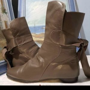 """Black Vanity"""" Taupe /beige tone ankle boots"""